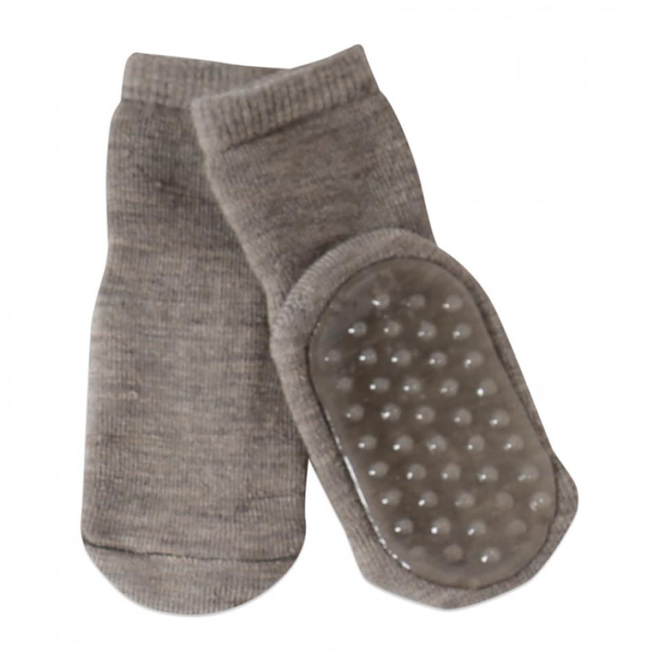 fefc0db0120 Mp Denmark - Skridsikre uld strømper - Brun