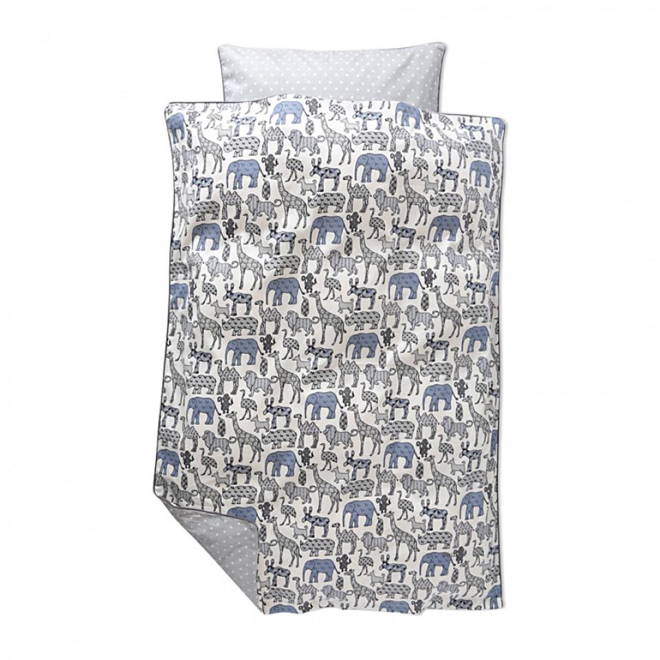 smallstuff sengetøj Smallstuff   Sengetøj med dyr   Lyseblå smallstuff sengetøj