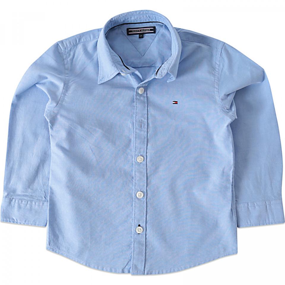 19bef651039 Tommy Hilfiger - Blå Oxford skjorte - Lyseblå