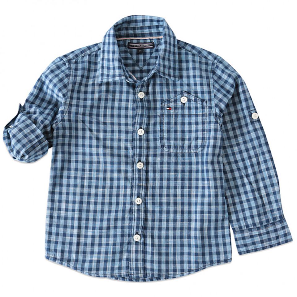 7e0a5930 Tommy Hilfiger - Ternet skjorte - Blå - House of Kids
