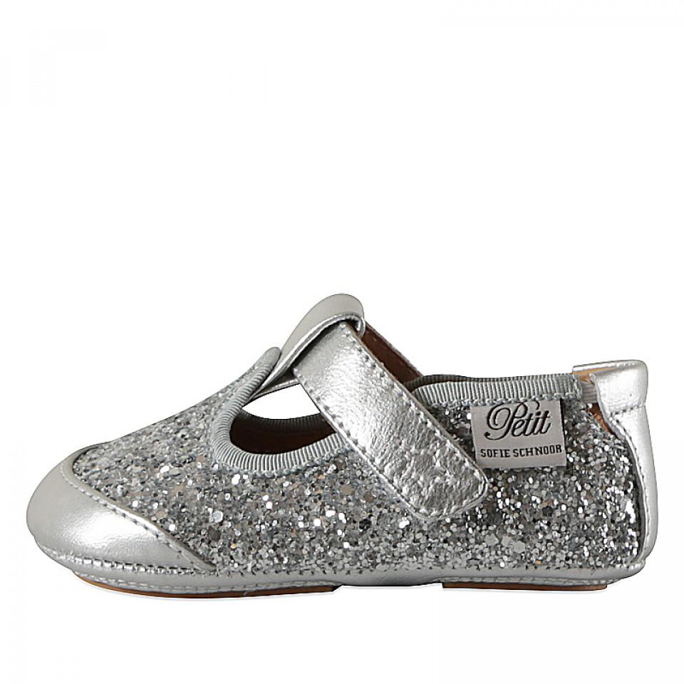 4f92b1ff938 Petit Sofie Schnoor - Glitter hjemmesko - Metallic