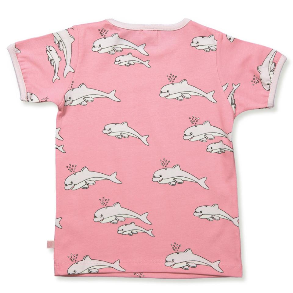 T shirt med delfiner