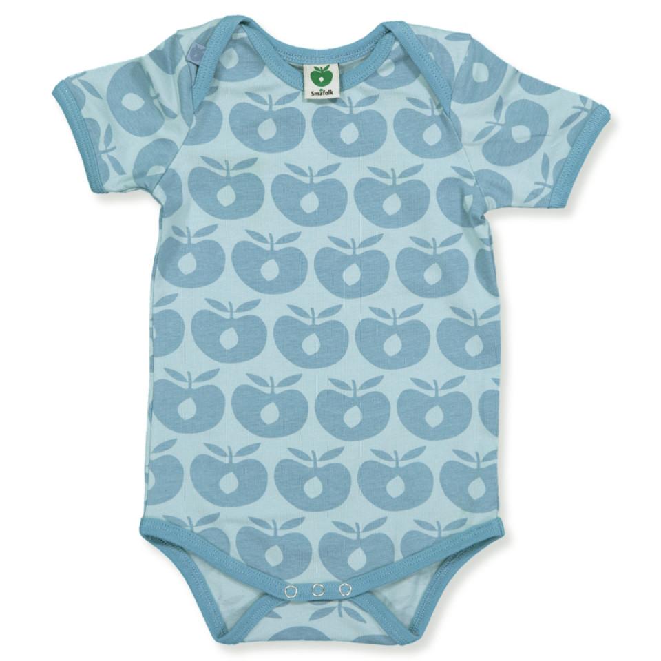 e18873126860 Småfolk - Body med æbler - Blå - House of Kids