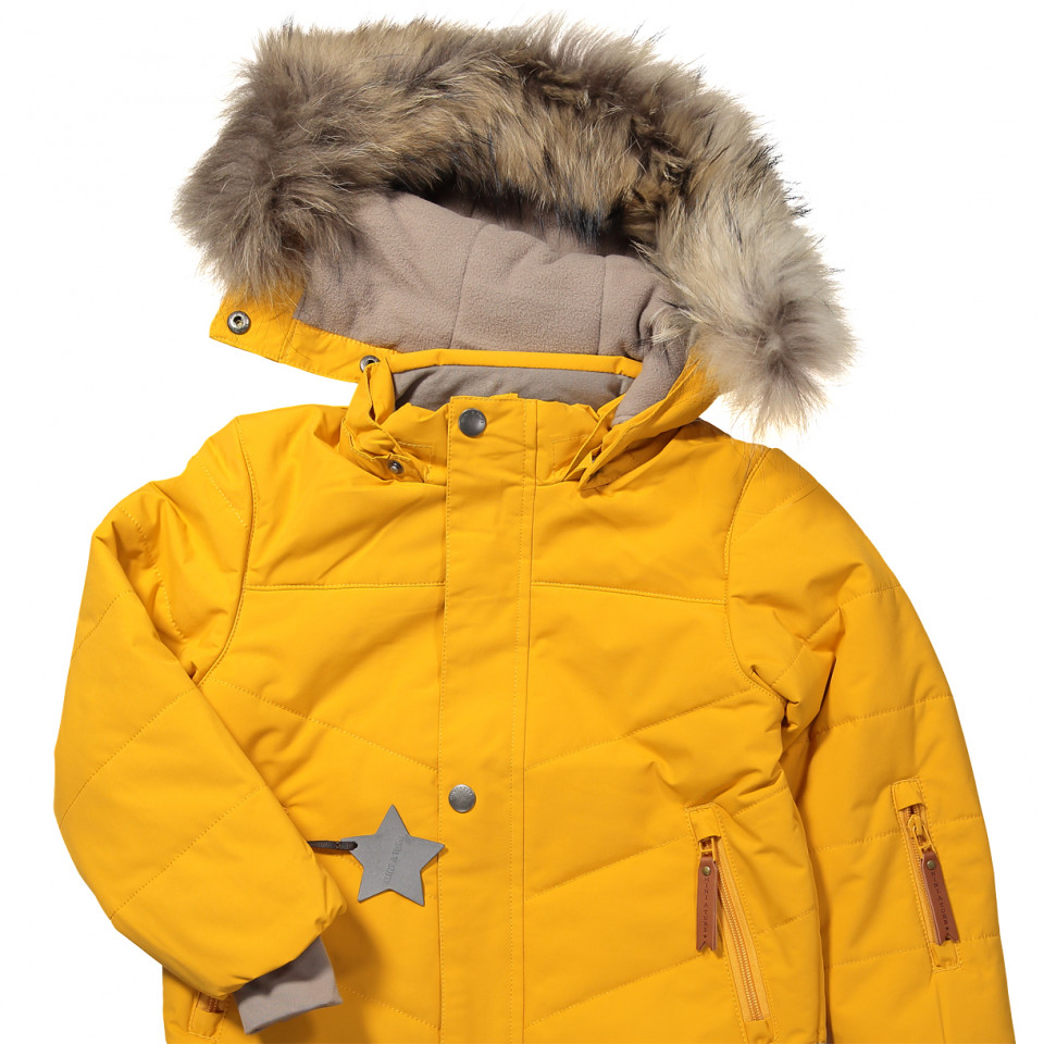 7af41239 Mini A Ture - Wessel vinterjakke - Mineral Yellow - Gul