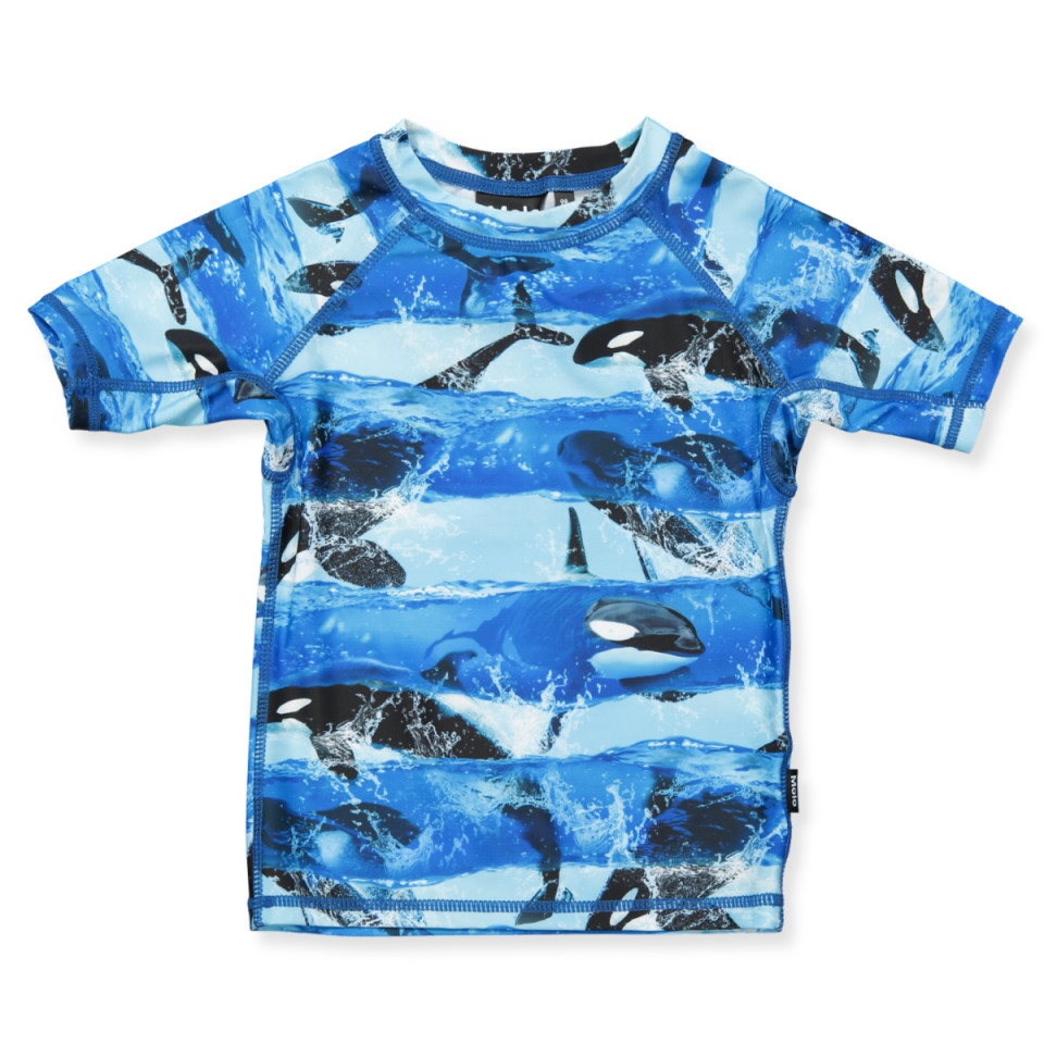 Molo - Neptune UV 50+ bade t-shirt - Killer Whale 556af1ff1d1f3