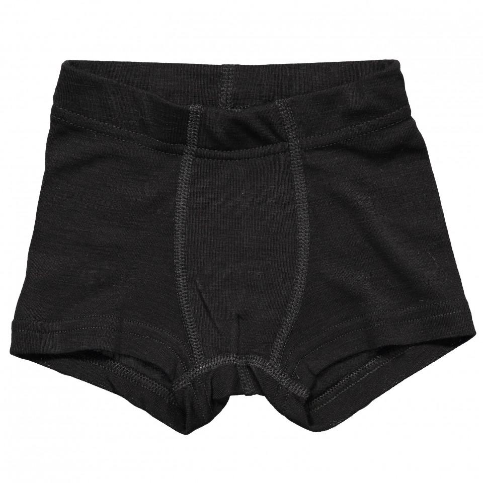 Sorte uld/silke boxershorts