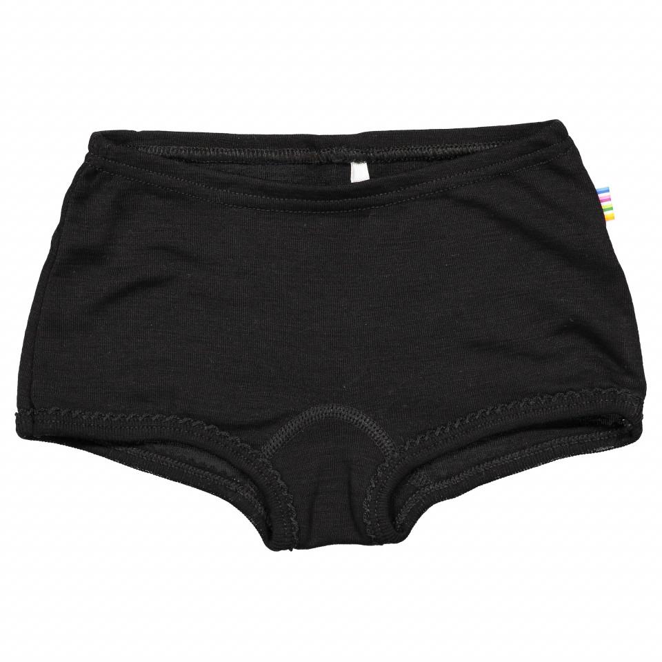 Sorte uld/silke panties