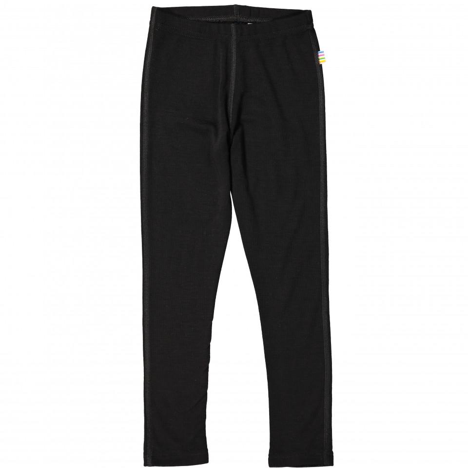 Sorte uld/silke leggings