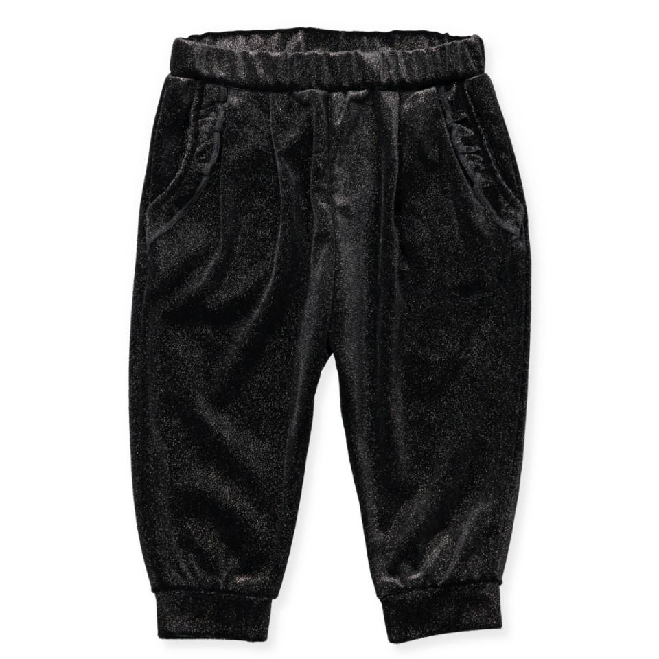 36395ec64480 Petit Sofie Schnoor - Glitter velour bukser - black
