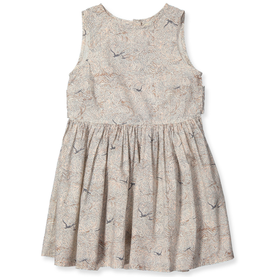 88192e9c9c5f MarMar - Darja kjole - Waves Print Rose - Creme