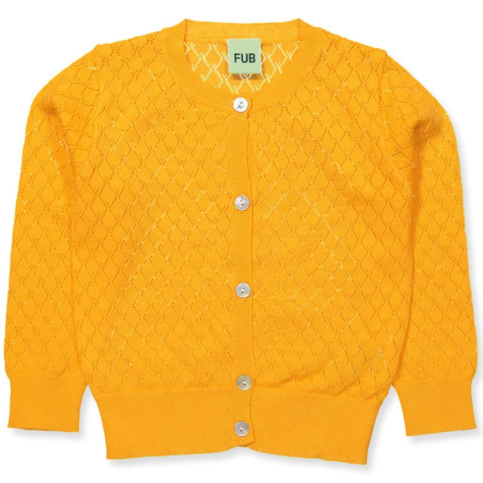 198bc675 Fub - Organic strik cardigan - yellow - Gul