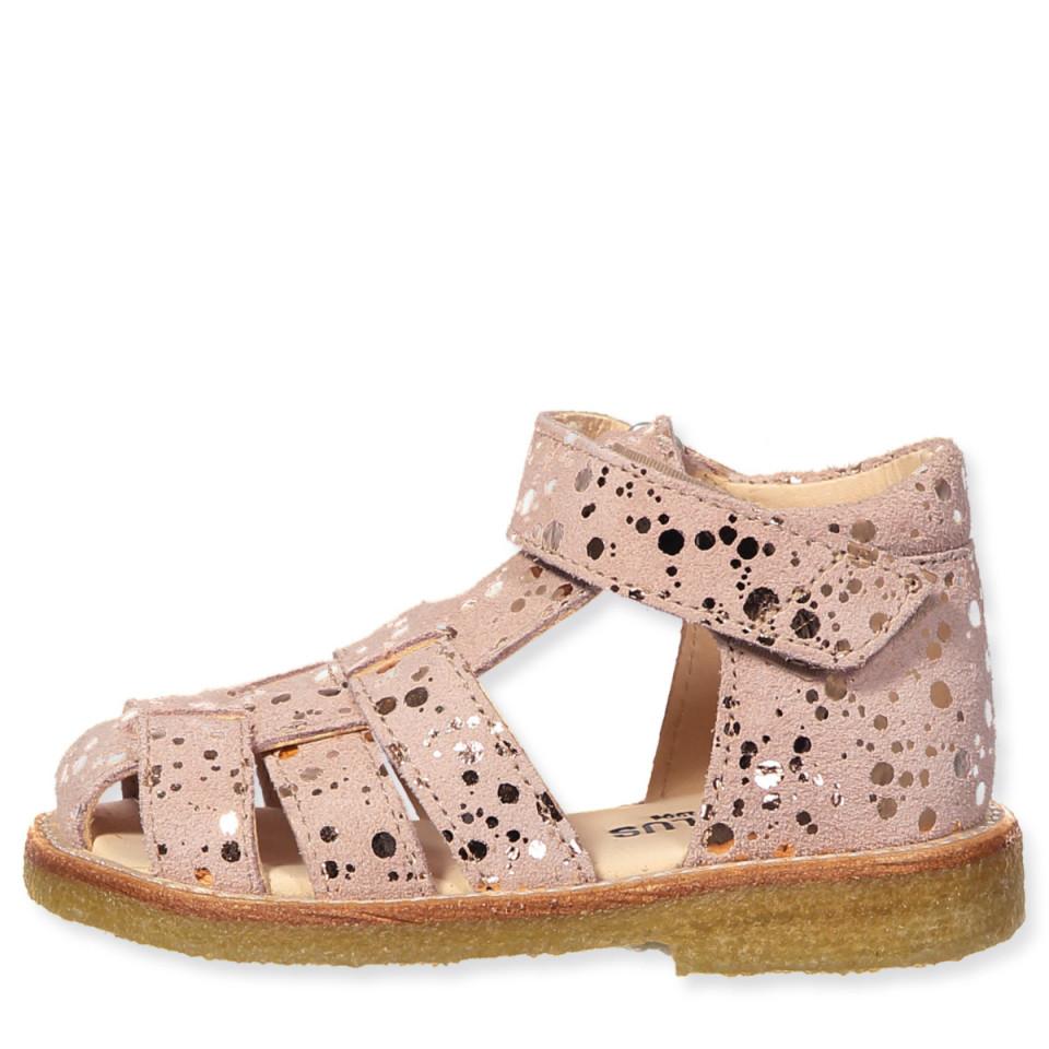 8116258e14e5 angulus - Rosa kobber sandaler - Rosa kobber prik