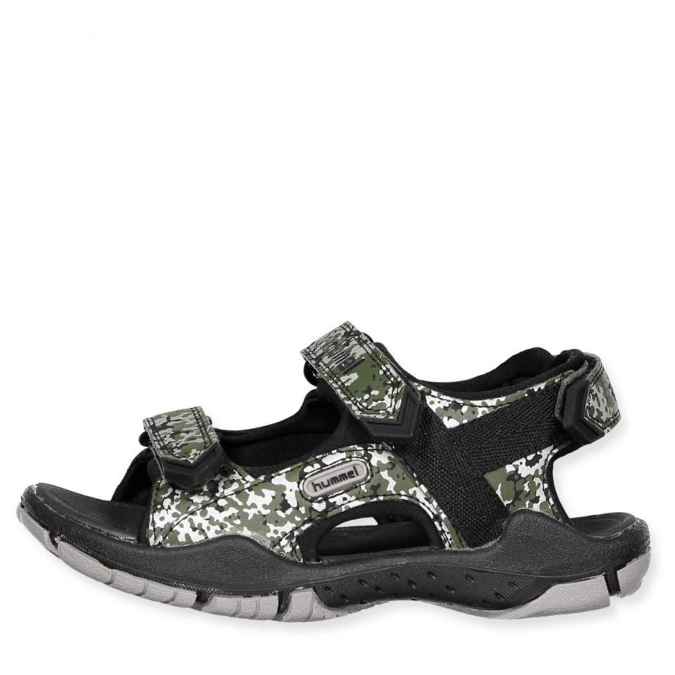76c24b2d5efd Hummel - Sandal Trekking Camo Jr - BLACK - Sort