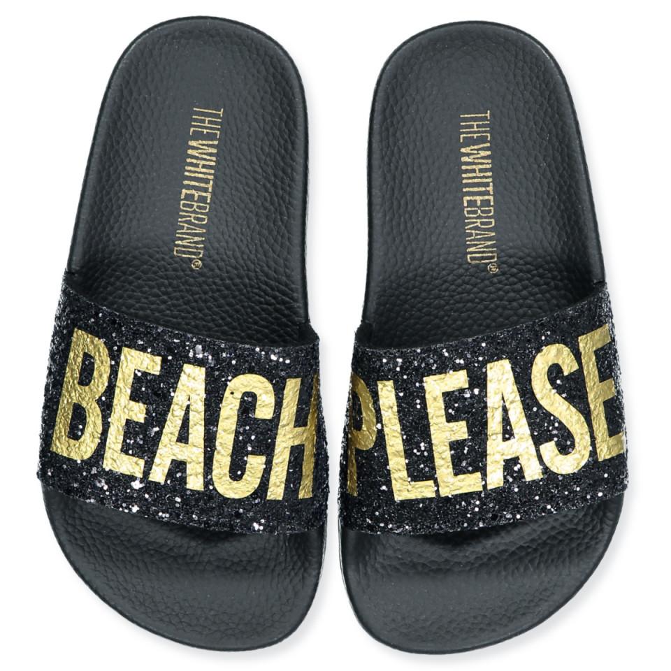 Beach Please glitter slippers