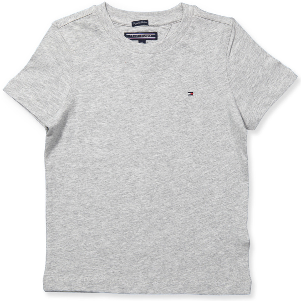 5cdd30e7 Tommy Hilfiger - Organic grå t-shirt - Grey Heather