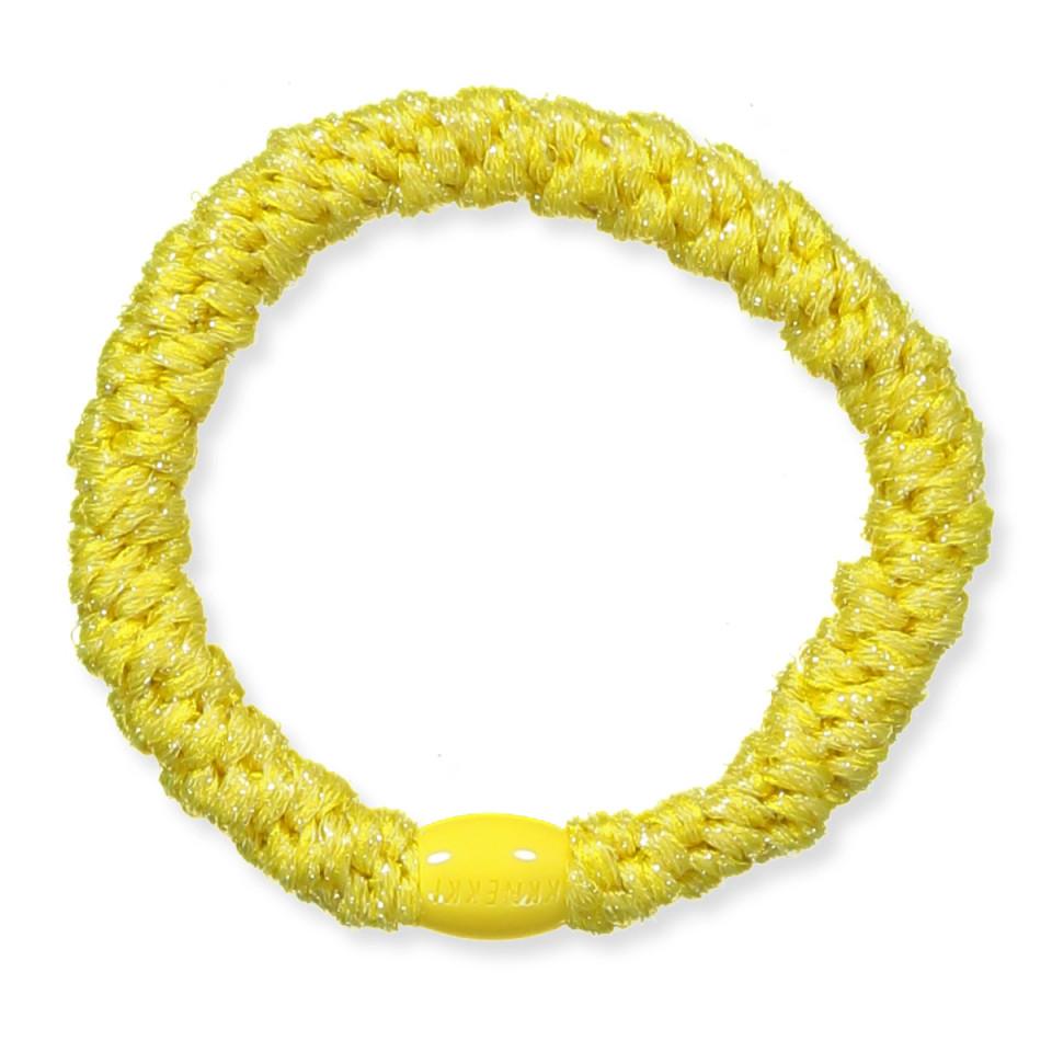 Kknekki glimmer hårelastik - gul