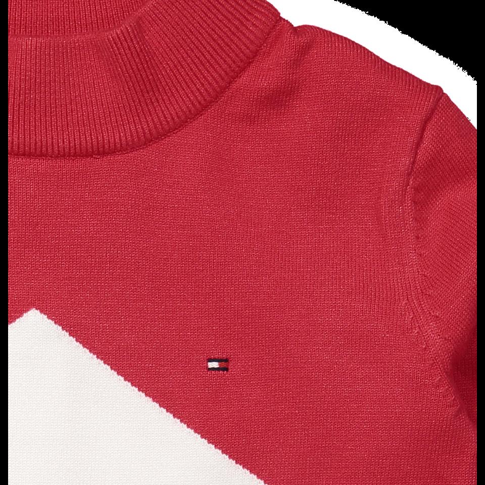 d27ab6a2 Tommy Hilfiger - Strik kjole - TRUE Red/Multi - Rød
