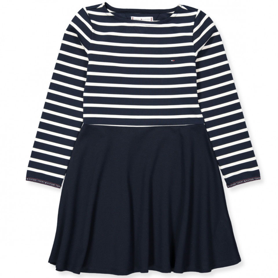 65ef3939ca6d Tommy Hilfiger - Navy kjole - Black Iris Snow White