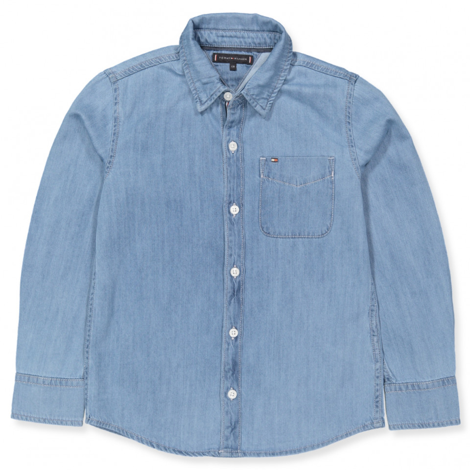 141c1b87 Tommy Hilfiger - Denim skjorte - REDDING LIGHT - Blå
