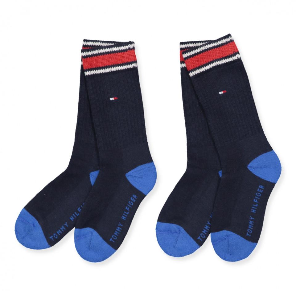932c5b45709 Tommy Hilfiger - 2 pak blå strømper - midnight blue