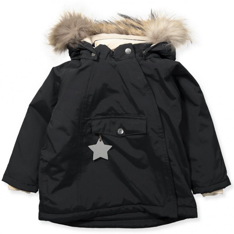 ba55a2ac5ff Mini A Ture - Wang vinterjakke med pels - Black - Sort