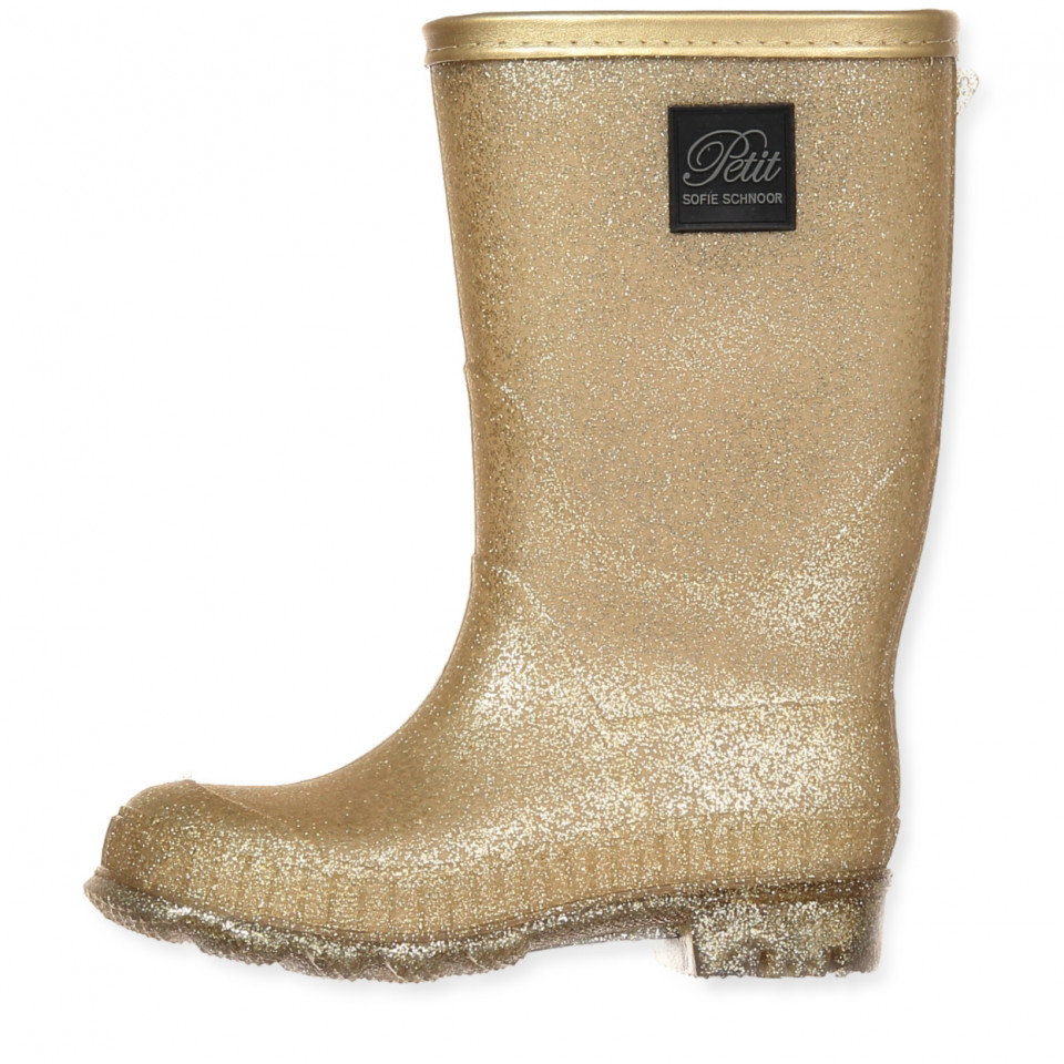 f7e2c860e2a Petit Sofie Schnoor - Guld vintergummistøvler