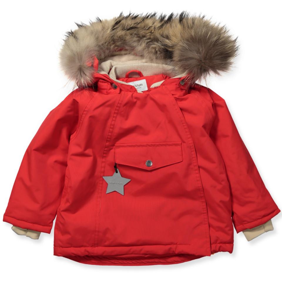 785d1e6d Mini A Ture - Wang vinterjakke med pels - Chinese Red