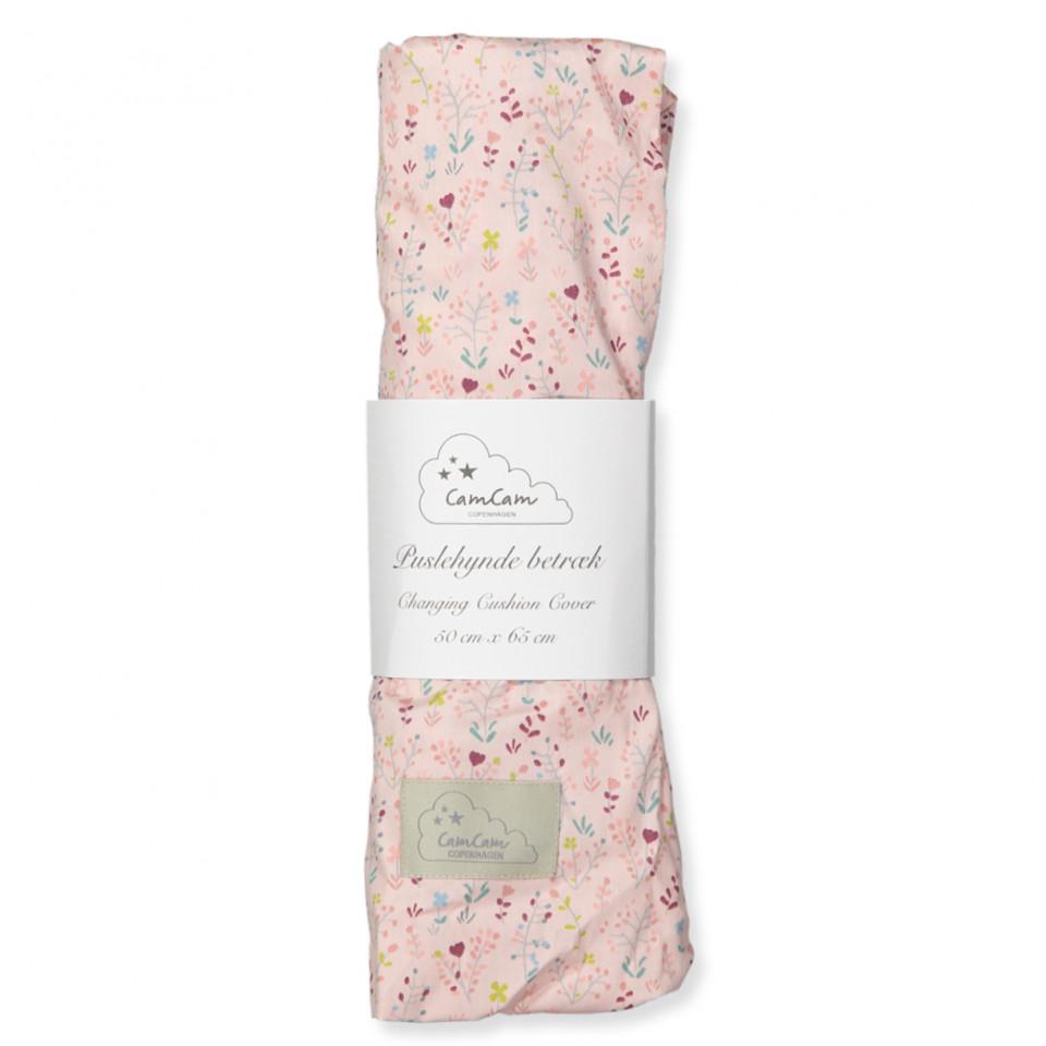 6760018c307 Cam Cam - Organic Fleur puslehyndebetræk - Rosa