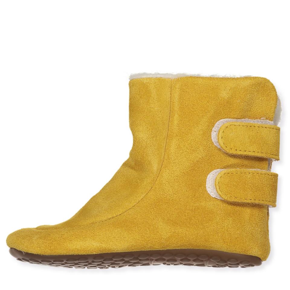 c64e9544444f Pom Pom - Mustard uld hjemmesko - Mustard Suede - Gul