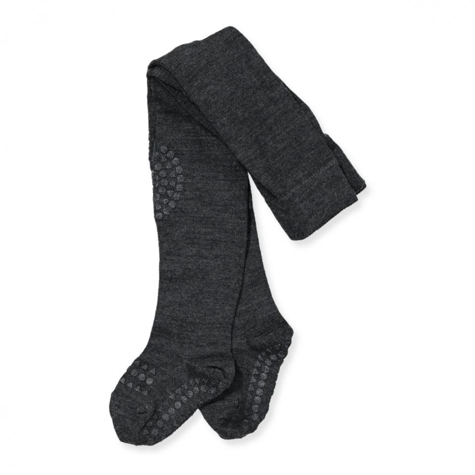 7e25b6a55fa GobabyGo - Mørkegrå uld non-slip strømpebukser