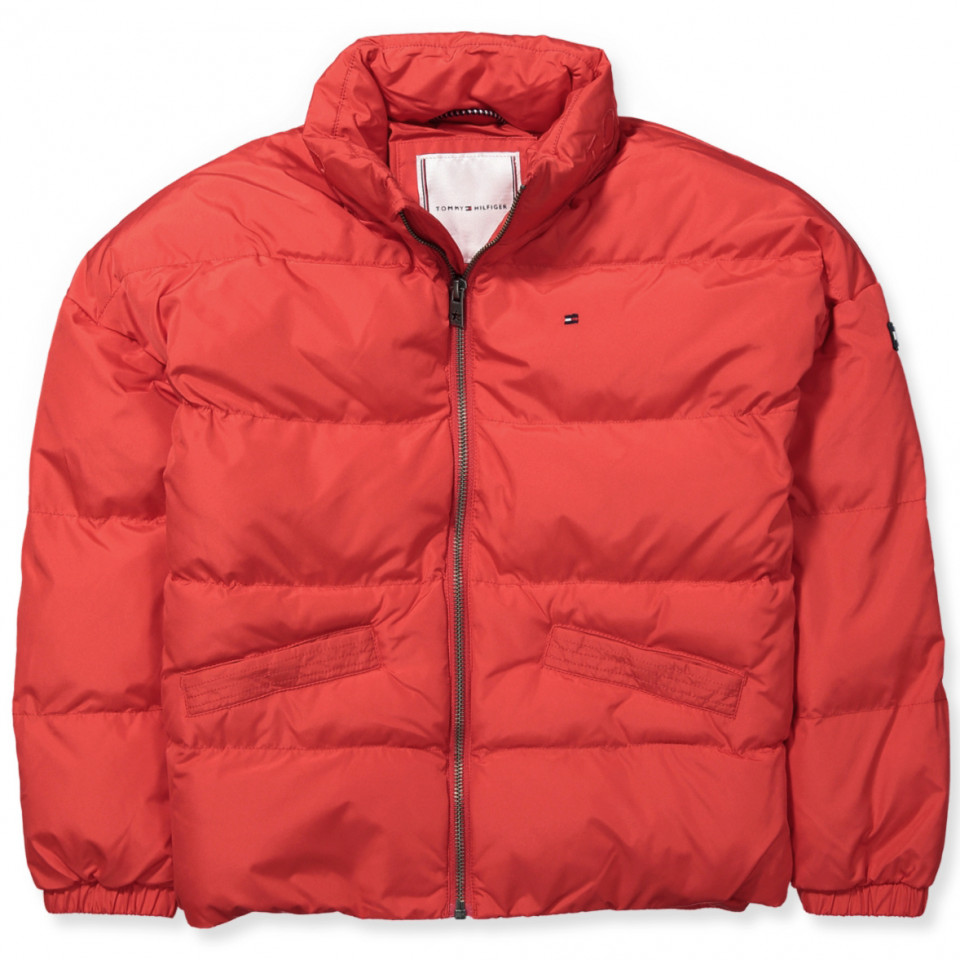 331e1227 Tommy Hilfiger - Rød fashion vinterjakke - TRUE Red