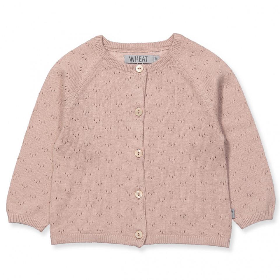 db981f3a34ac Wheat - Maja cardigan med uld - rose powder - Rosa