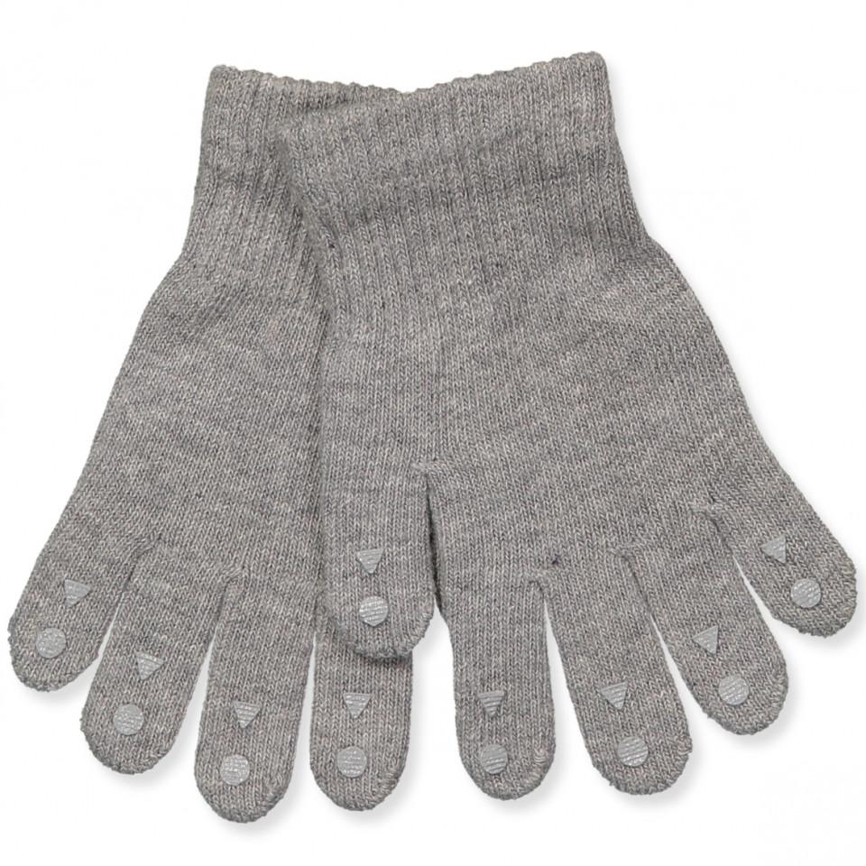 330dd7af934 GobabyGo - Grå grib fingervanter - Grey Melange - Grå