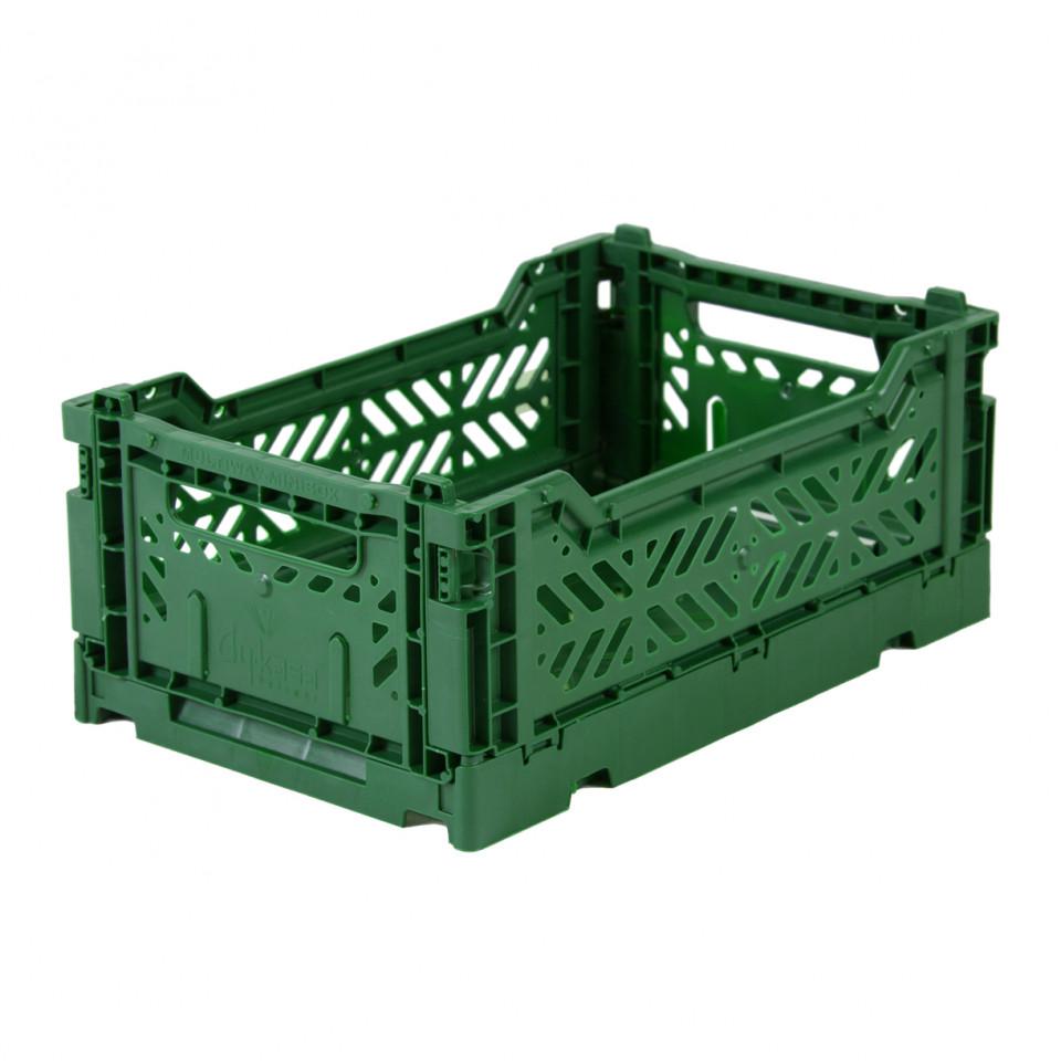 Foldekasse mini - dark green