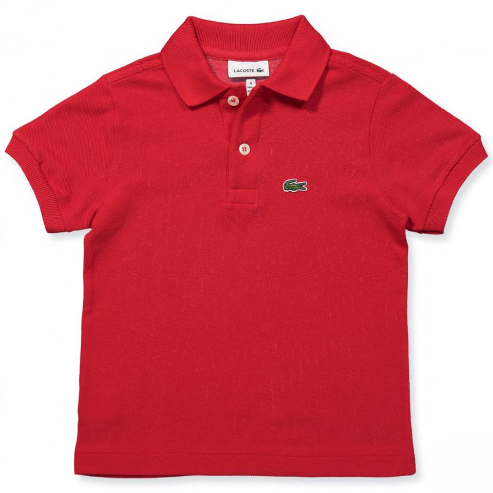 Rød polo t-shirt