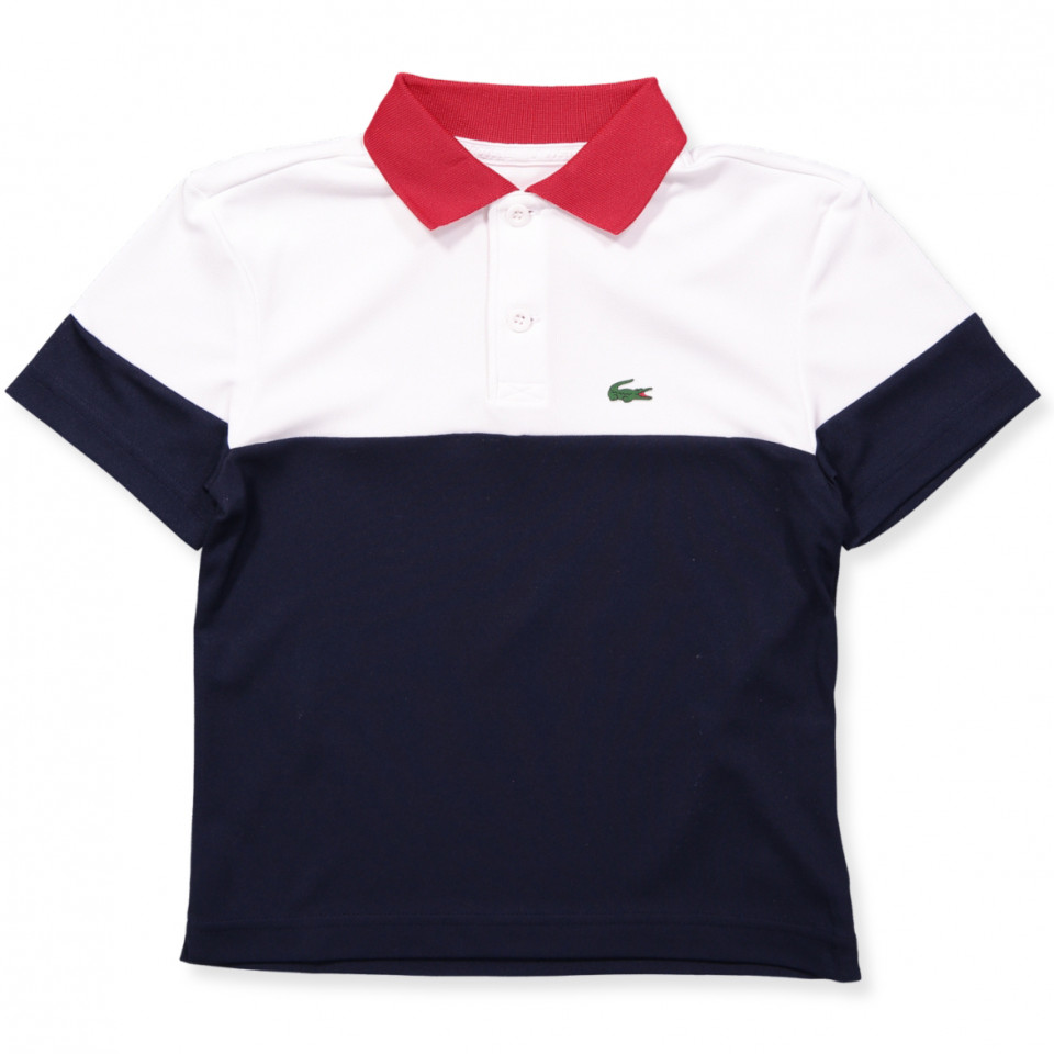 bd958388f16 Lacoste - Navy polo t-shirt - WHITE/NAVY BLUE-RED