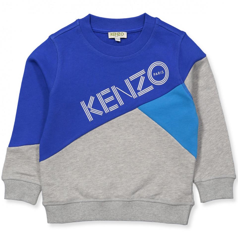 436eb2c62c5 Kenzo Kids - Logo sweatshirt - GREY - Blå
