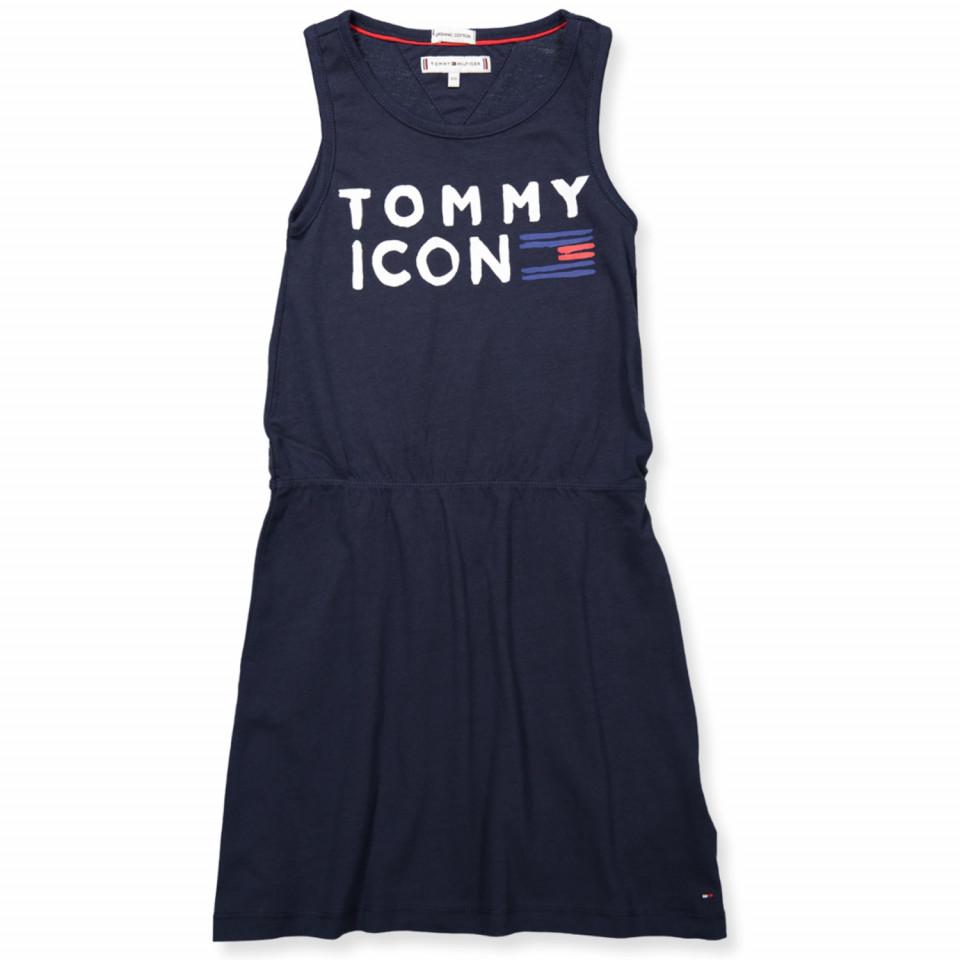 73f0eb2a7fe6 Tommy Hilfiger - Navy kjole - Black Iris - Navy