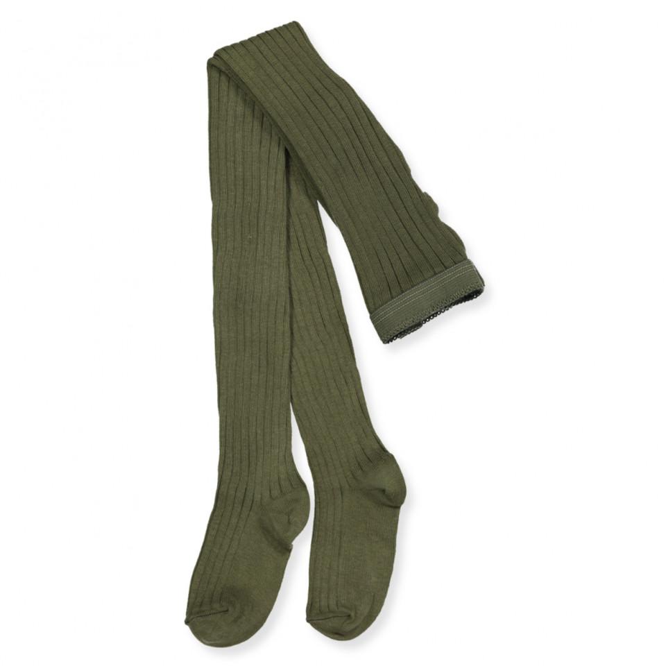 Army rib strømpebukser