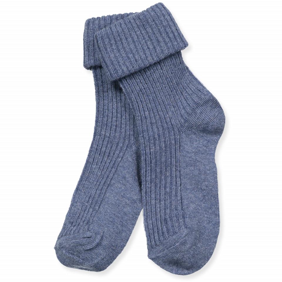 Blå baby strømper