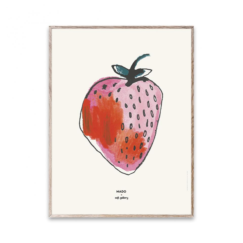 MADO x Soft Gallery Strawberry plakat - 30x40 cm