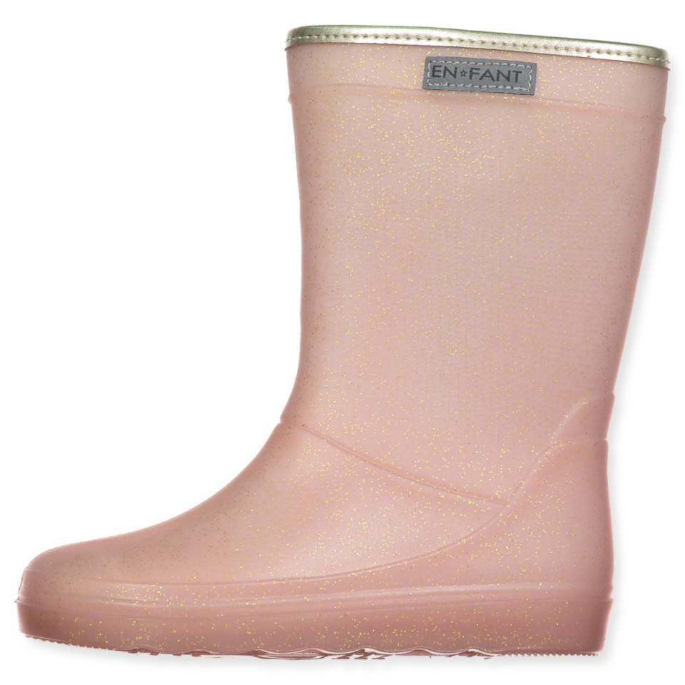 Rosa glimmer gummistøvler
