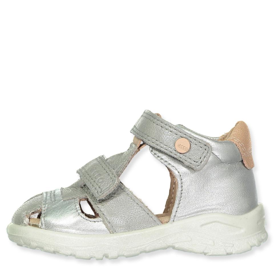 8d591e0be09 Ecco - Peekaboo sandaler - CONCRETE/SILVER METALLIC