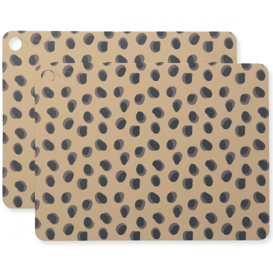 2 pak leopard dækkeserviet