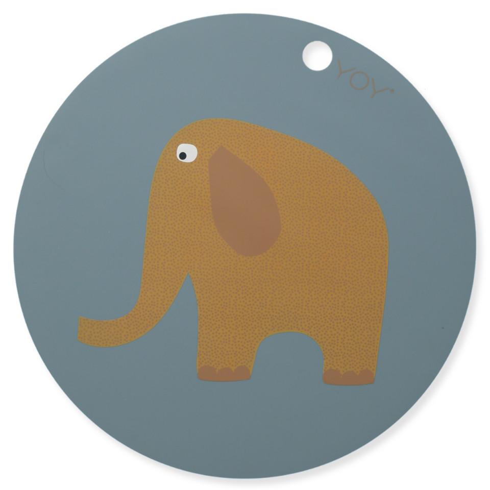 Elefant dækkeserviet