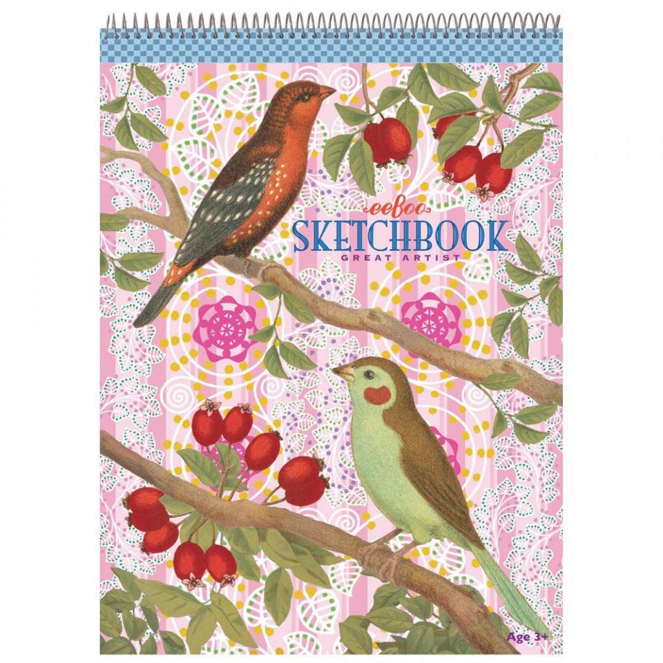 Skitseblok - Fugle og bær