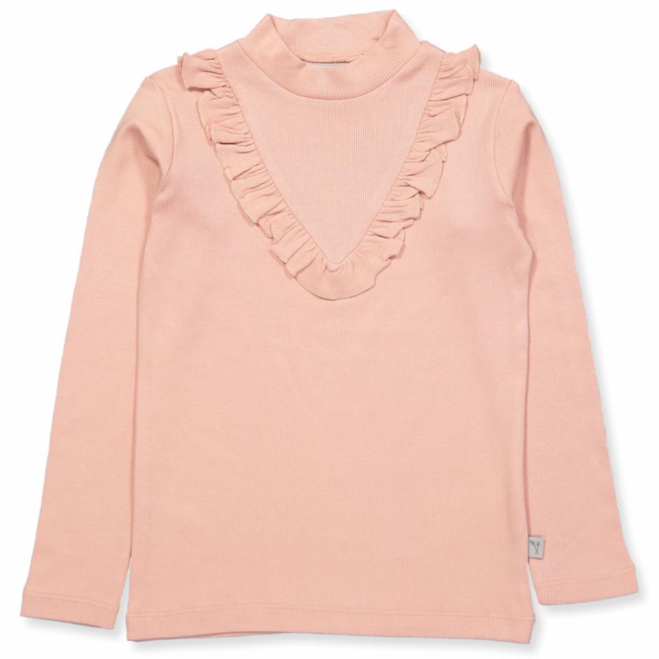 Rosa rib bluse