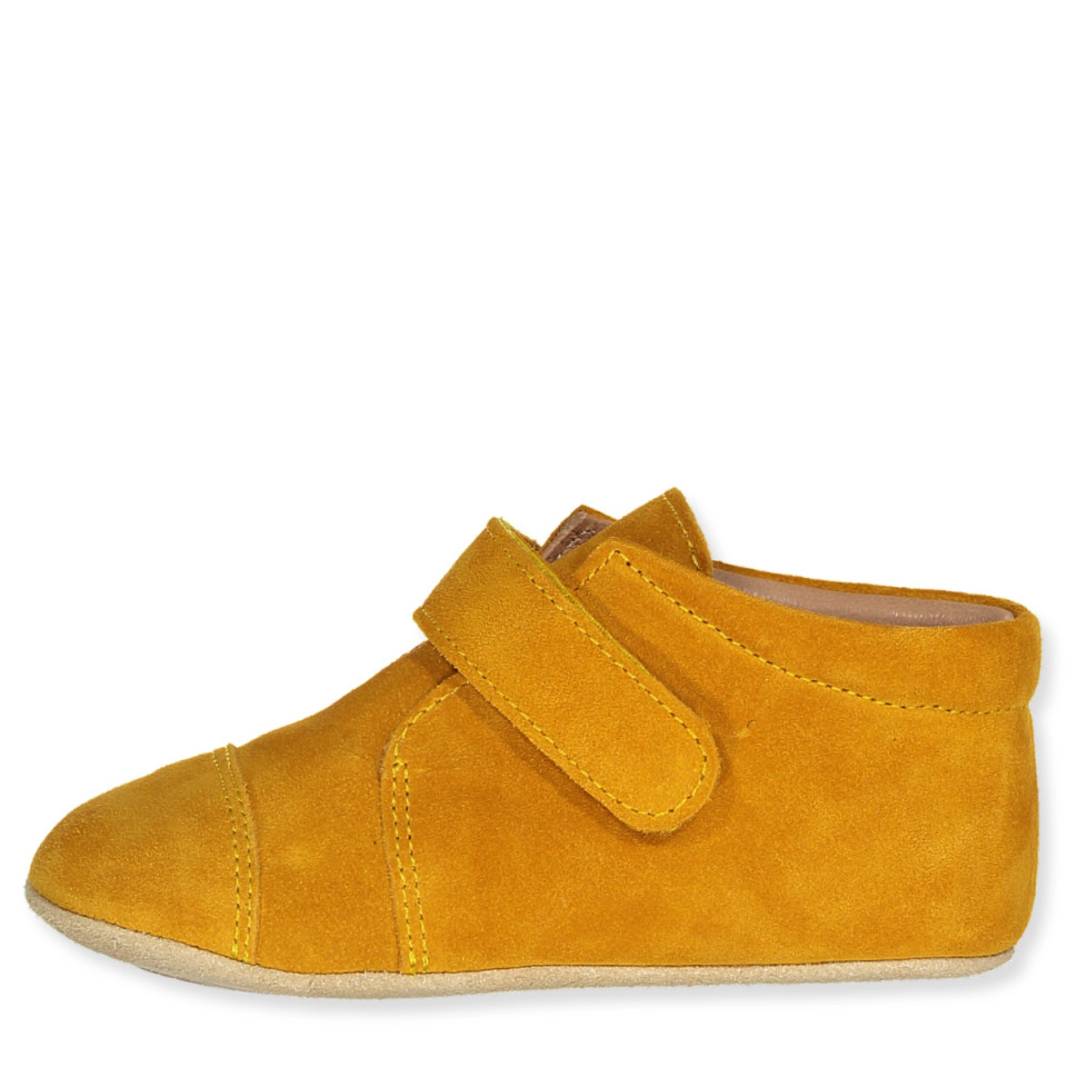 Mustard hjemmesko - ruskind