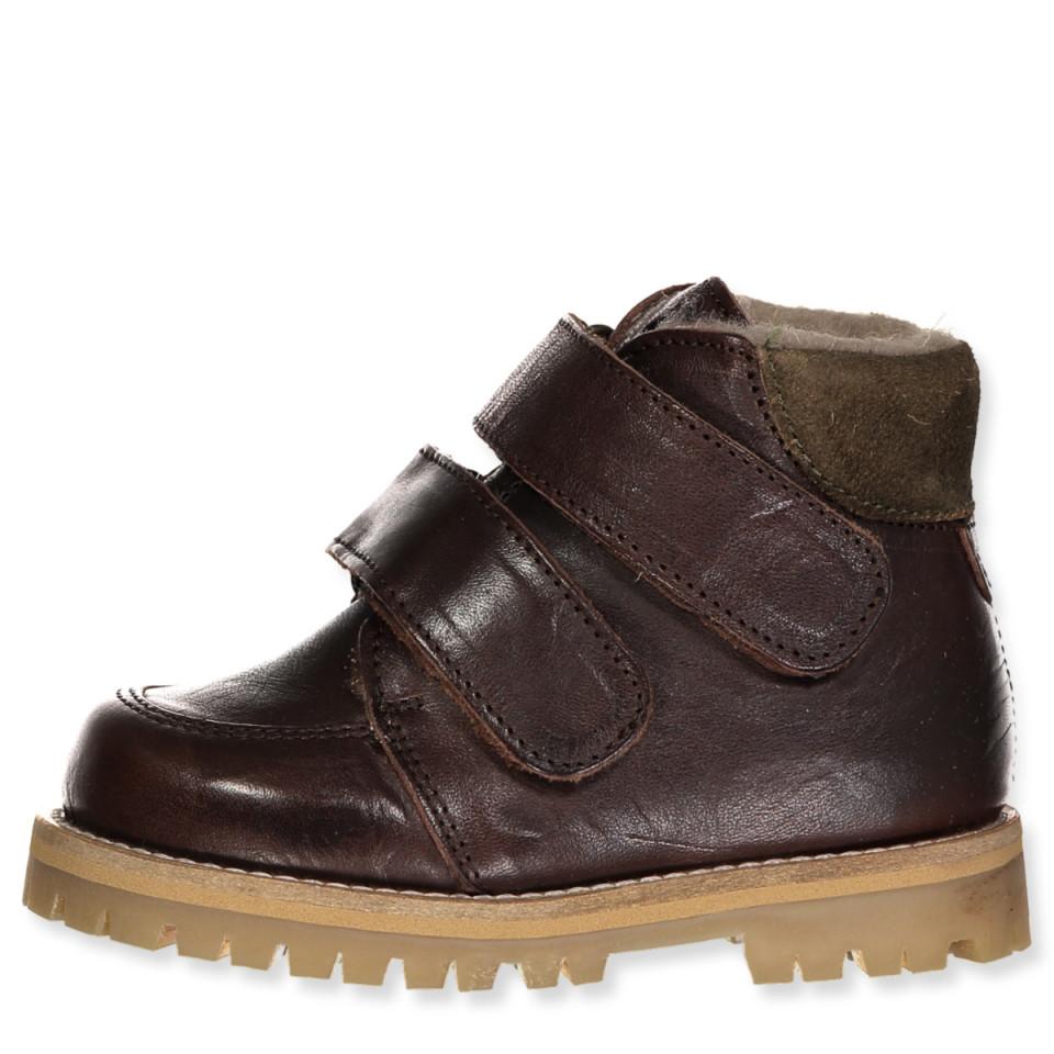 Brune tex vinterstøvler
