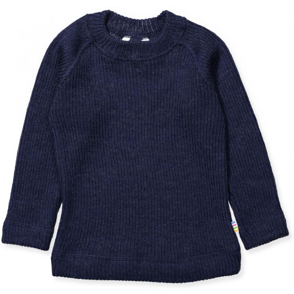 Navy uld bluse